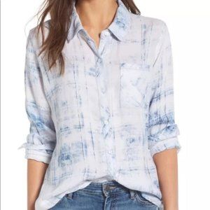 Rails Cloud Wash Long Sleeve Button Front Shirt
